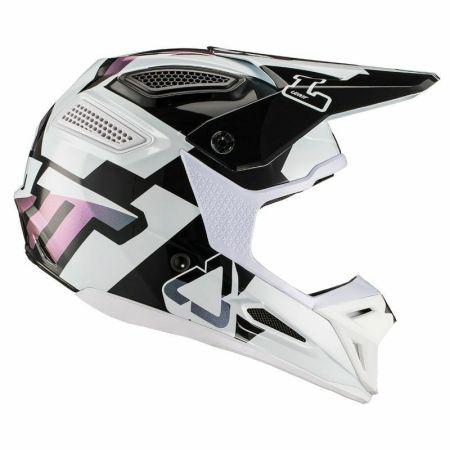 Casco Moto Cross Enduro Leatt GPX 5.5  V 19.2 bianco XXL fibra offroad 63 64 cm