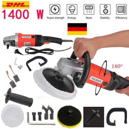 Profi 1400W Auto Exzenter Poliermaschine Polierset Schleifmaschine 60HZ 195mm SL