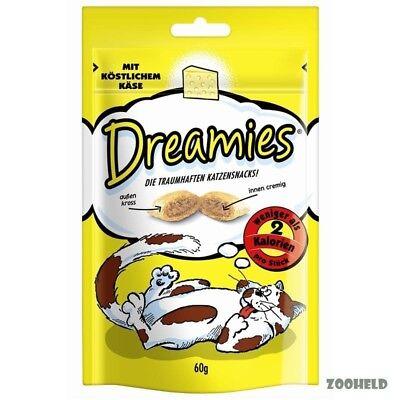 6x60g Dreamies Snack mit Käse Katzensnack Knuspersnack mit Füllung kalorienarm