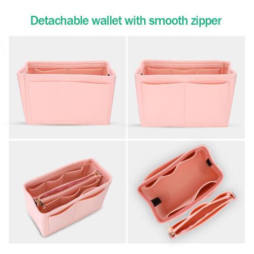 Felt Purse Handbag Organizer Insert - Multi pocket Storage Tote Shaper Liner Bag 5