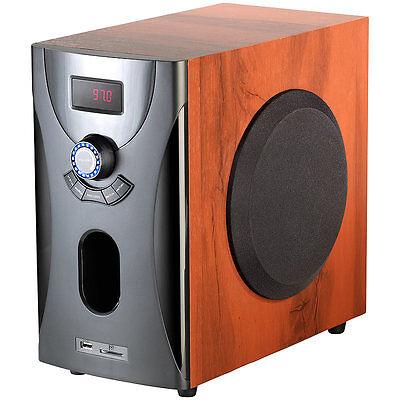 auvisio Home-Theater Surround-Sound-System 5.1, 160 Watt, MP3/Radio, Holzoptik