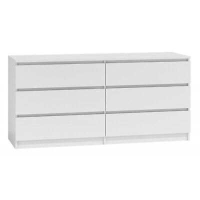 Kommode mit 6 Schubladen 140cm Sideboard weiß Anrichte holz