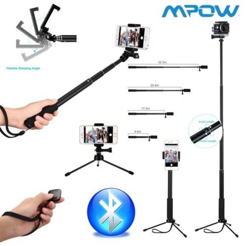 MPOW Selfie-Stick-Stativ Bluetooth Teleskop für iPhone f.Samsung Einbeinstativ