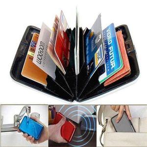 Aluminum Metal Wallet Business ID Credit Card Case Holder Anti RFID Scanning