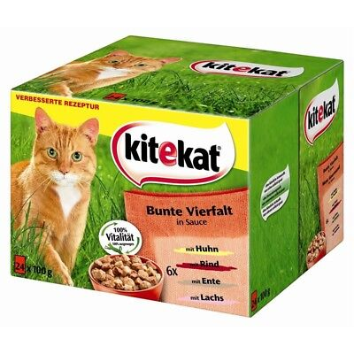 Kitekat BunteVielfalt in Sauce | 48x 100g Katzenfutter