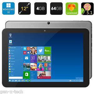 "Chuwi Hi12 12"" Dual OS Windows 10 + Android Tablet PC: 64Gb Rom + 4GB RAM: OTG"