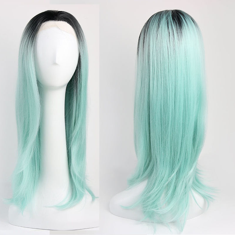 """24""""60cm long straight wig synthetic"""