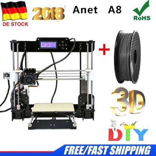 Anet A8 Precision Desktop 3D-Drucker Kit DIY Eigenmontage MK8 Extruderdüse Acryl