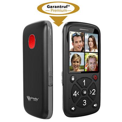 simvalley 5-Tasten-Senioren- & Kinder-Handy mit Garantruf Premium, LED und Radio