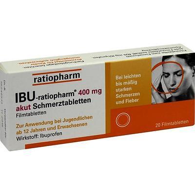 IBU ratiopharm 400 akut Schmerztabletten   20 st   PZN 266040