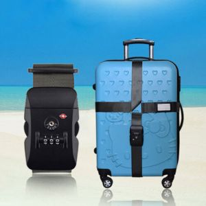 TSA Adjustable Travel Luggage Strap Cross Straps Combination Lock Belts Suitcase