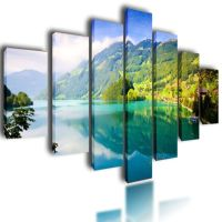 HUGE Extra Large Canvas Pictures Wall Art Green Split ...