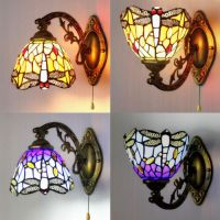 Stained Glass Tiffany Style LED Wall Sconce Single Lamp ...