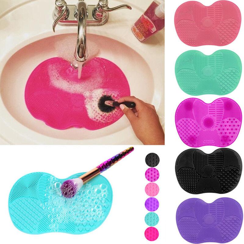 Silikon Groß Make up Pinsel Reiniger Kosmetik Scrubber Board Mat Pad Werkzeug De