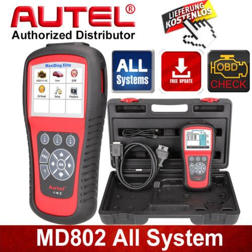 Autel MD802 Elite KFZ Alle Systeme OBD2 Diagnosegerät ABS SRS Scanner + DS Model