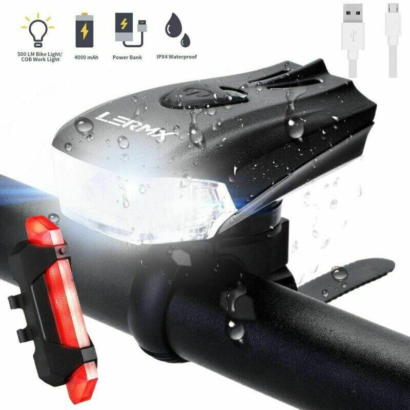 USB LED Fahrradbeleuchtung Fahrrad Licht Fahrad Scheinwerfer Fahrradlampe DE