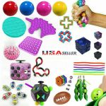 Fidget Toy Set Fun Sensory Toys Stress Relief Magic Ball Cube Pop It ADHD Gift