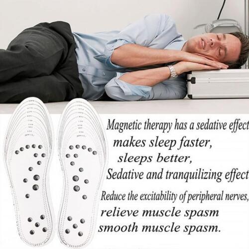 2 Paar Transparente magnetische orthopädische Einlegesohlen bequeme Massage DE