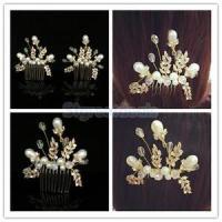 Gold Bridal Hair Combs Vintage Wedding Hair Pieces Bride