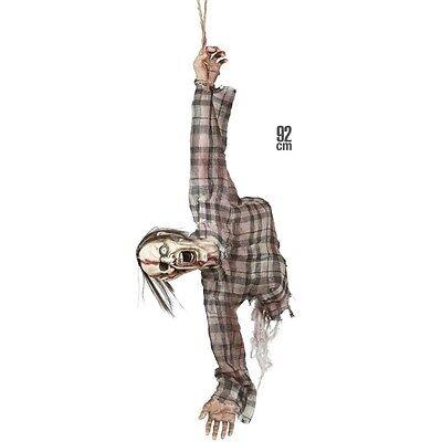 Deko 92 cm ZOMBIE TORSO Hängedekoration Halloween Figur Schaufenster Horror