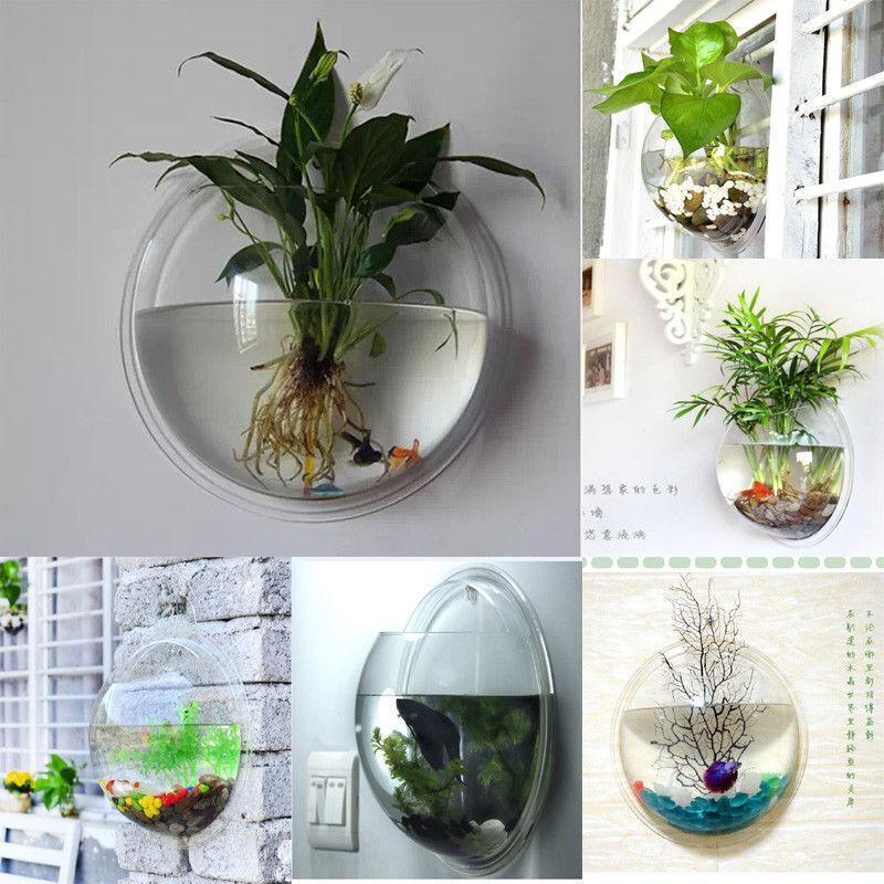 Indoor Outdoor Garden Wall Mounted Plastic Plant Pot