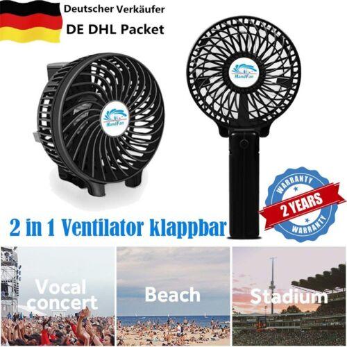 Mini USB Hand Ventilator Tischventilator mit Akku und Ladekabel Fan Abkühlung H5