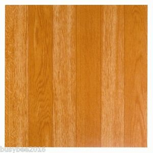 48 x Vinyl Floor Tiles  Self Adhesive Sticky Plain Wood