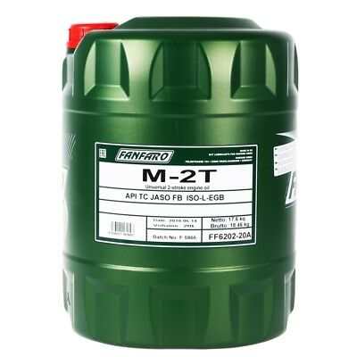 20 Liter FANFARO M-2T 2-TAKT UNIVERSAL Motoröl API TC JASO FB ISO Motorrad Öl