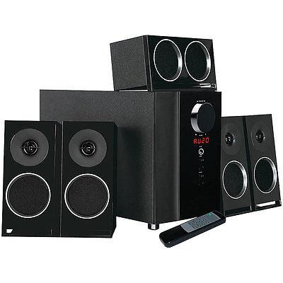 auvisio PCM 5.1-Surround-Soundsystem, optischer Audio-Eingang, 200 Watt