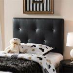 Kirchem Faux Leather Upholstered Twin Headboard in Black