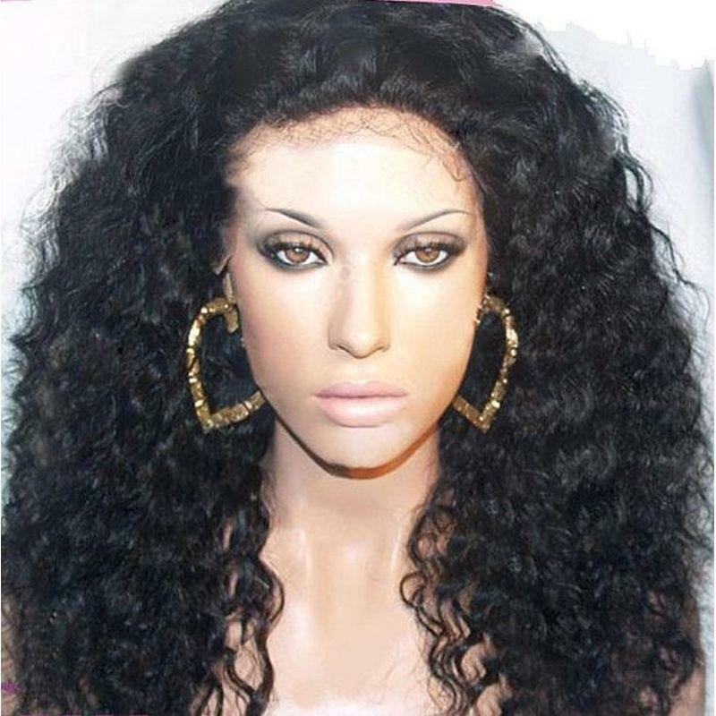 100 Human Hair Full Lace Wigs EBay
