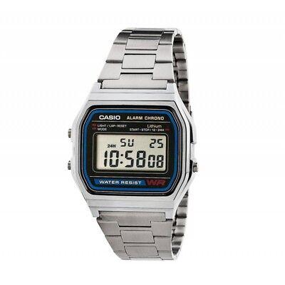 Casio Retro Digitaluhr A158WA-1 Armbanduhr Digital Herren Damen Uhr NEU