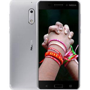 New Nokia 6 32GB/4GB RAM Dual SIM Unlocked 4G LTE Smartphone Android 7.0 -Silver