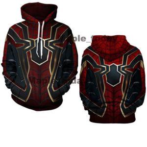 Iron Spider-Man Hoodies Avengers Infinity War Spiderman Streetwear Coat Costume