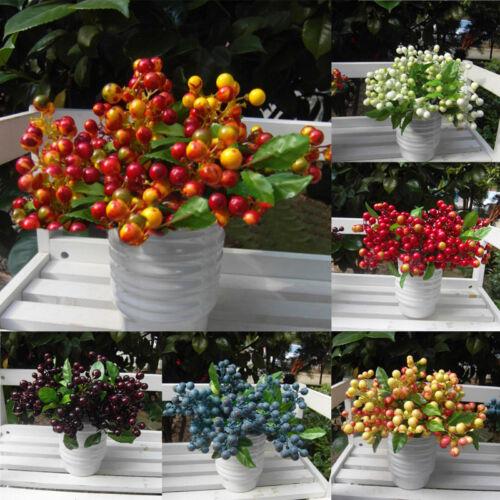 Blaubeere Früchte Beeren Künstliche Blumen Seidenblumen für Hochzeit Wohndeko