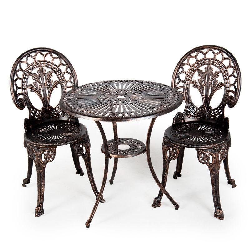 Cast Iron Table and Chairs  eBay