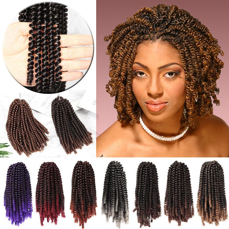 Boho Fluffy Mini Spring Twist Crochet Braids Hair Extension Spring