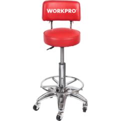 Garage Chair With Wheels Zebra Dining Chairs Heavy Duty Adjustable Hydraulic Stool Work Shop Vendor High