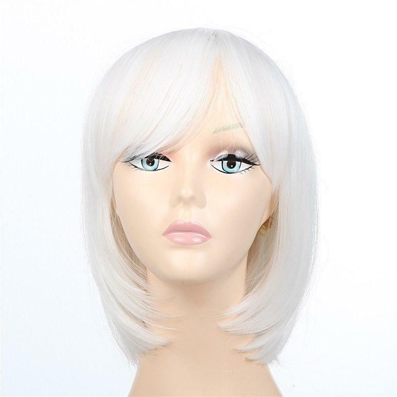 short white hair wig