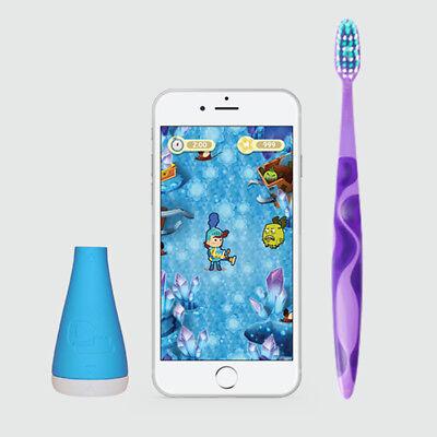 Playbrush Bluetooth Zahnputzaufsatz für Kinderzahnbürsten blau