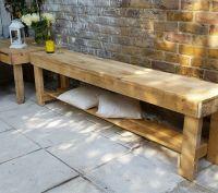 Rusty Long Bench, TV Bench, Garden Bench ,Hand Made From
