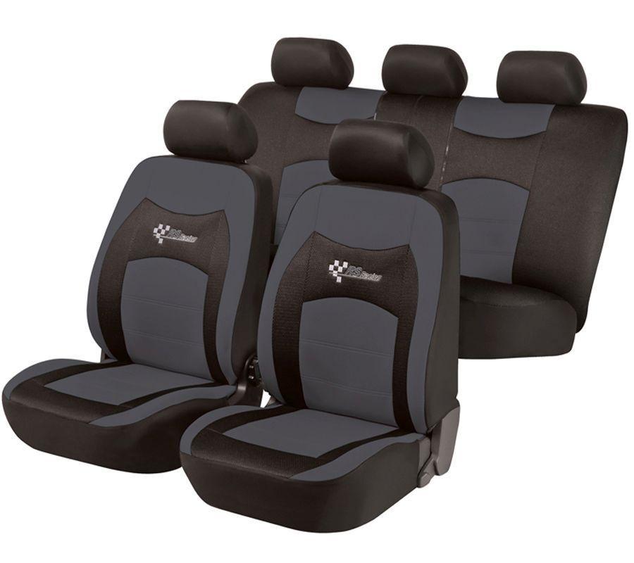 Sitzbezug Monza grau/schwarz Schonbezüge Schonbezug Sitzbezüge KFZ Autositzbezug