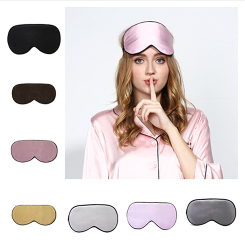 1 X Seide Schlafbrille Schlafmaske Augenmaske Augenbinde Reise Tiefschlaf Maske