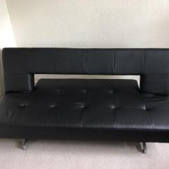 Sofa Bed Black Faux Leather Vintage Corner Uk Dwell Pisa In Southside