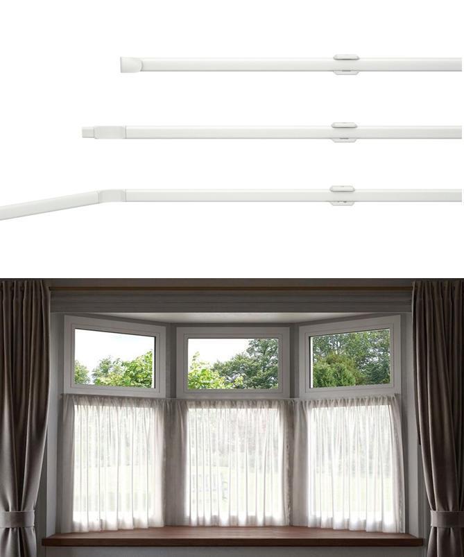 net curtain flexi track rod bay windows