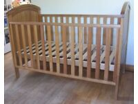 Mothercare Westbury Cot Bed From Birth To Approx 5 Years Excellent Condition