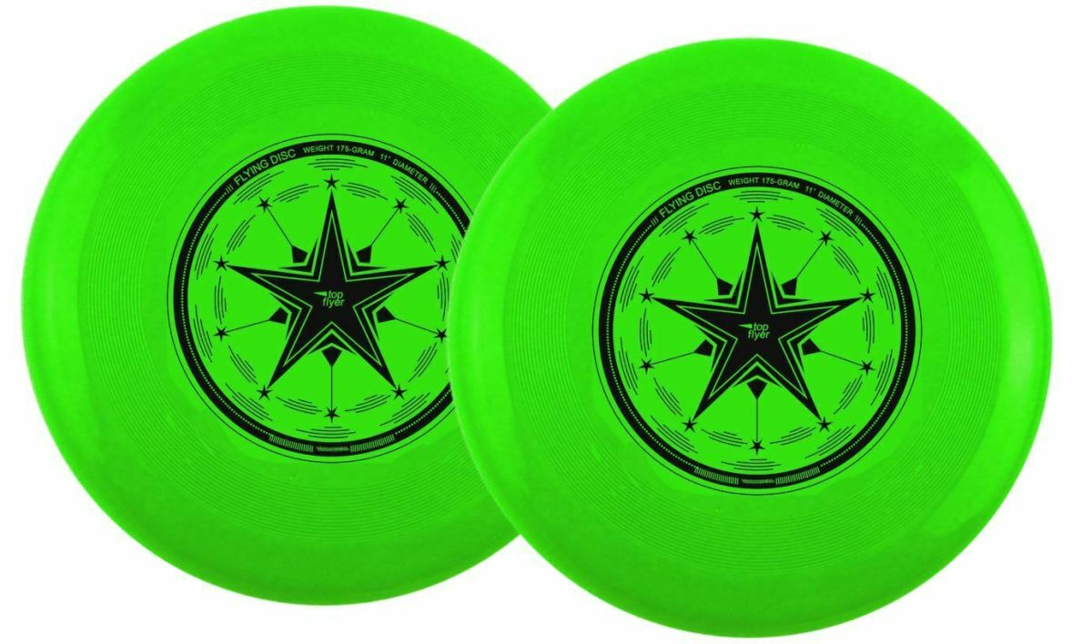 Top Flyer 2 Stück Profi 175g Ultimate Frisbee 27,5 cm (11 Inch) Wettkampfscheibe