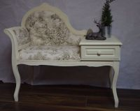 Shabby Chic Vintage Telephone Seat Chair Table Chaise