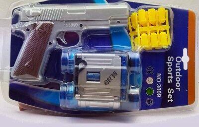 6x Spielzeugpistole Pistole mit 12 Schuss Patronen & Fernglas Outdoor Sports Set