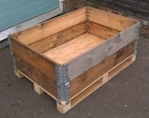 Pallet Crate Box Ideal Composter Outdoor Toy Store Logs